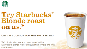Starbucks Blonde Roast Coffee