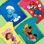 character t-shirts