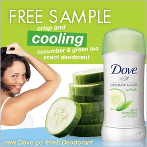 Free Samples Of Dove Go Fresh Deodorant