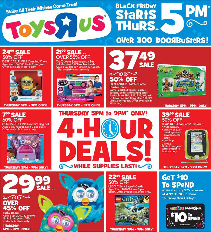 Toys R Us Black Friday 2013 Ad and Deals